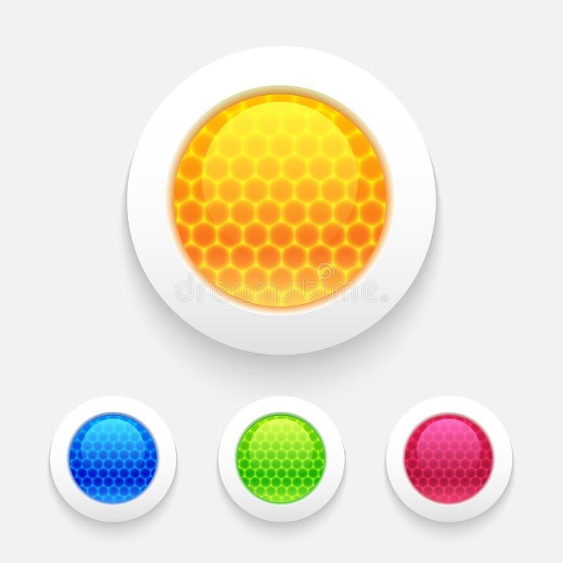 套光滑的按钮 向量例证