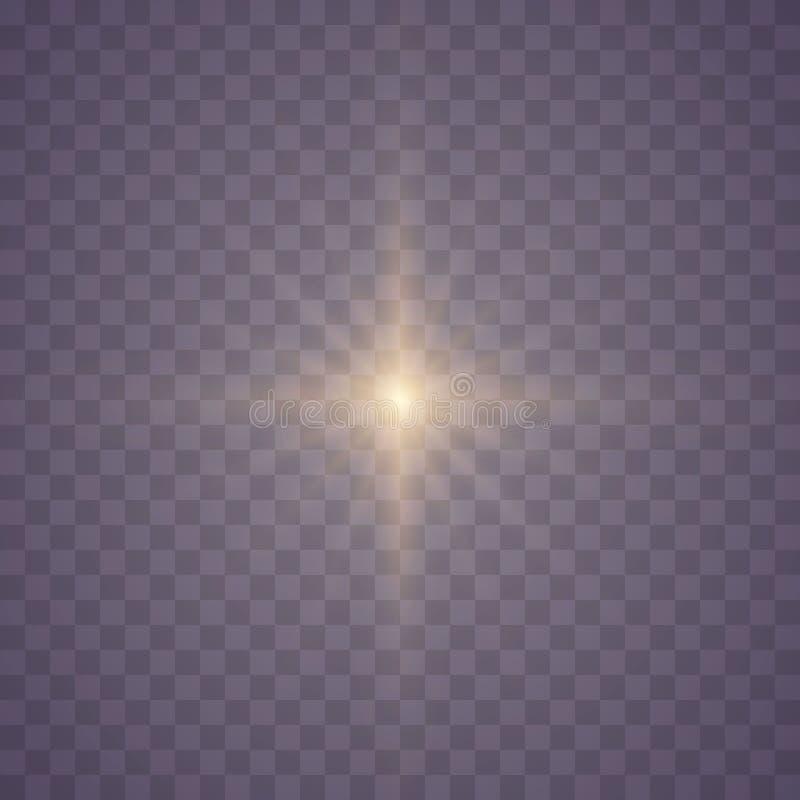 套发光的星 库存例证