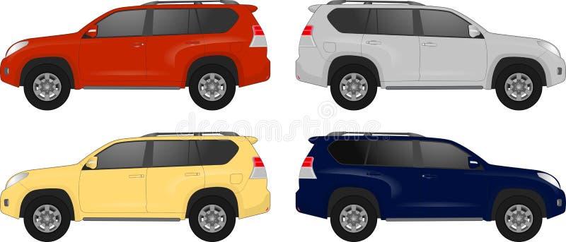 套另外颜色汽车,现实汽车塑造 皇族释放例证