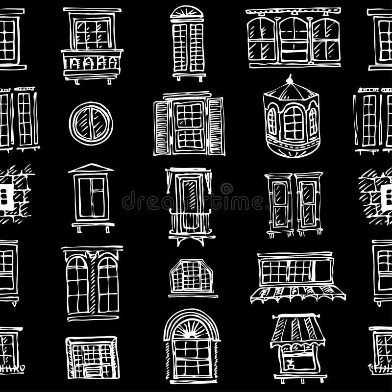 套各种各样的窗口形状 皇族释放例证