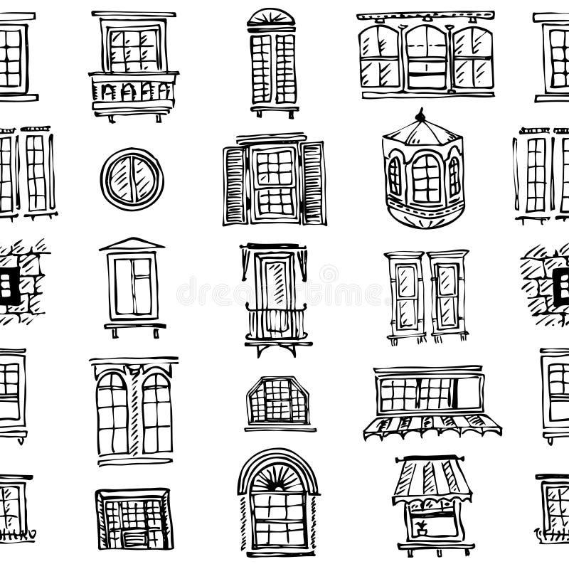 套各种各样的窗口形状 向量例证