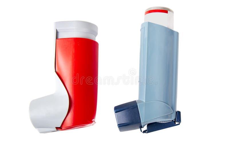 套哮喘吸入器 免版税库存图片