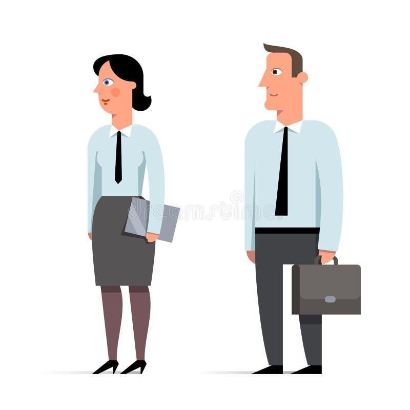 套商人和女实业家字符平的例证 向量例证