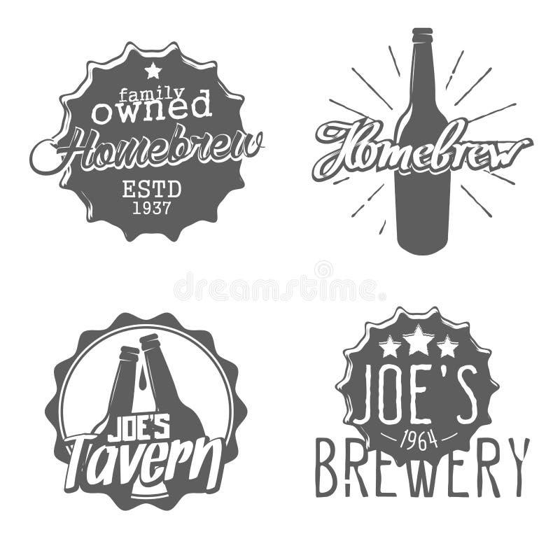 套啤酒厂标签 向量例证
