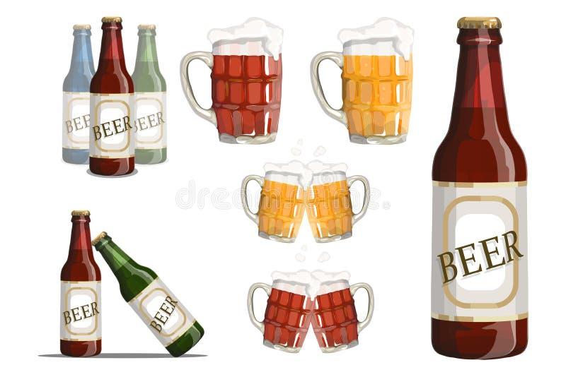 套啤酒杯 向量例证