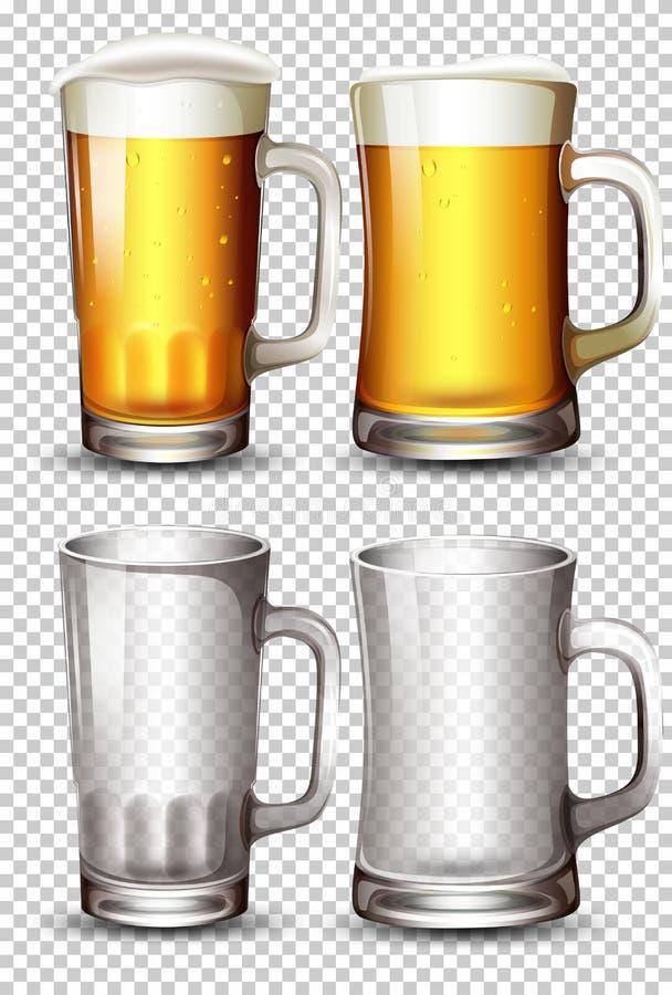 套啤酒杯 库存例证