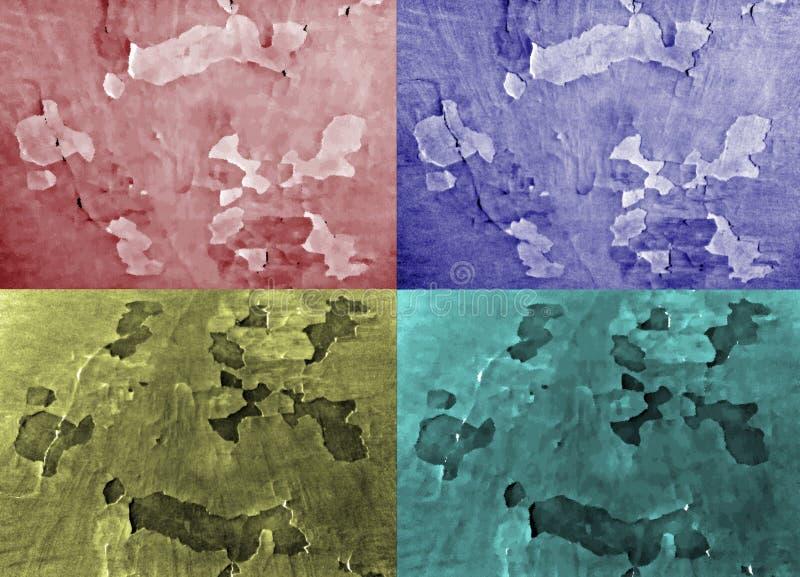 套四不同的颜色背景  库存例证