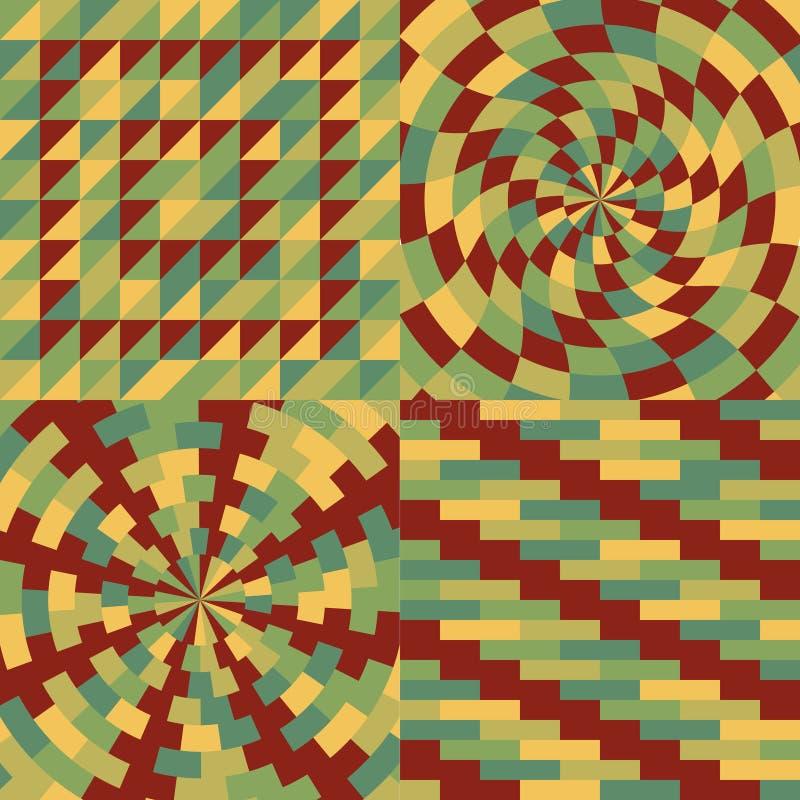 套四几何样式 向量例证