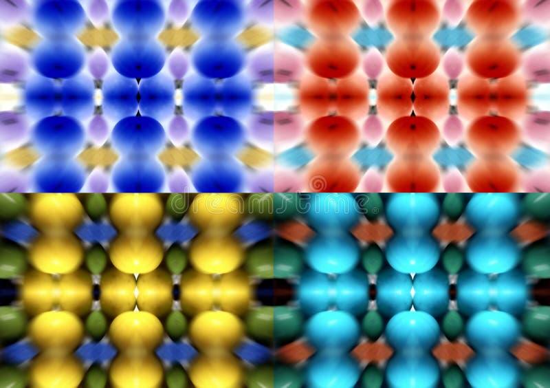套四弄脏了不同的颜色背景  向量例证