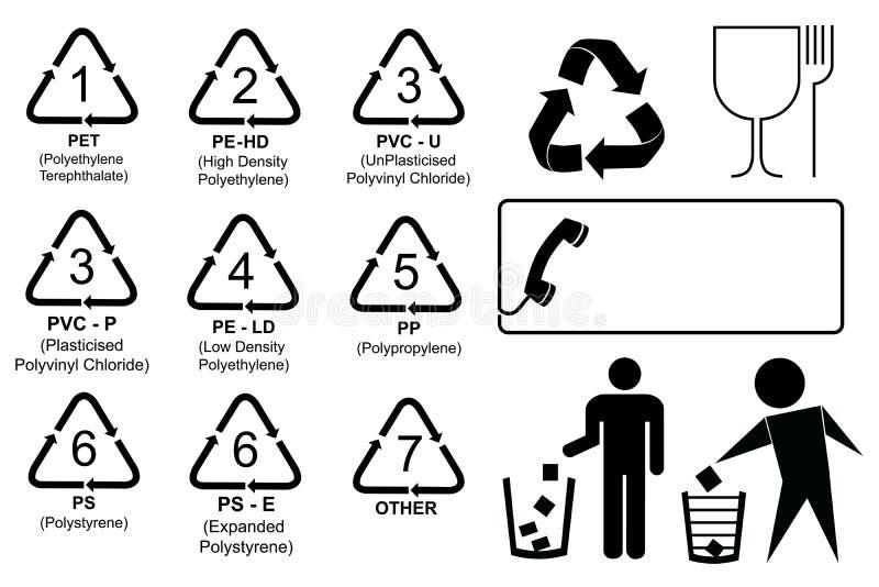 套回收代码 向量例证