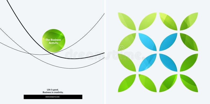 套图表模板的抽象传染媒介设计 创造性的现代企业背景 向量例证