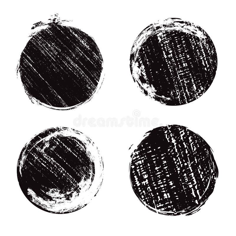 套圆的难看的东西横幅以抓痕 墨水印刷品 向量例证