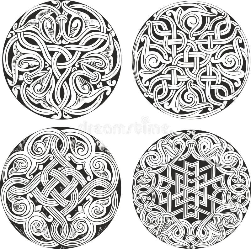 套圆的结装饰样式 皇族释放例证