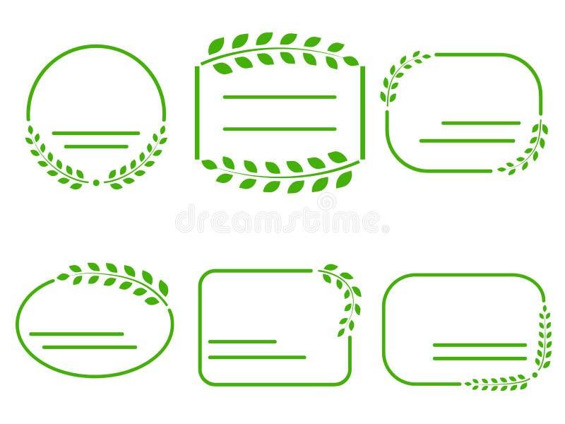 套在生态题材的绿色框架  皇族释放例证