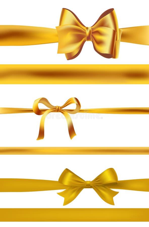 套在白色的金黄弓 向量 皇族释放例证