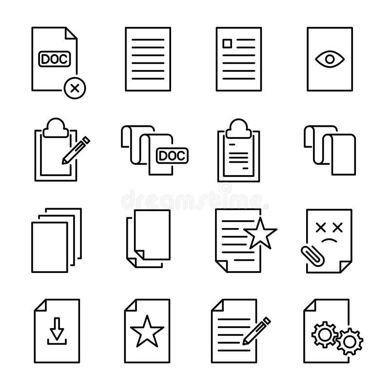 套在线型的优质文件象 库存例证