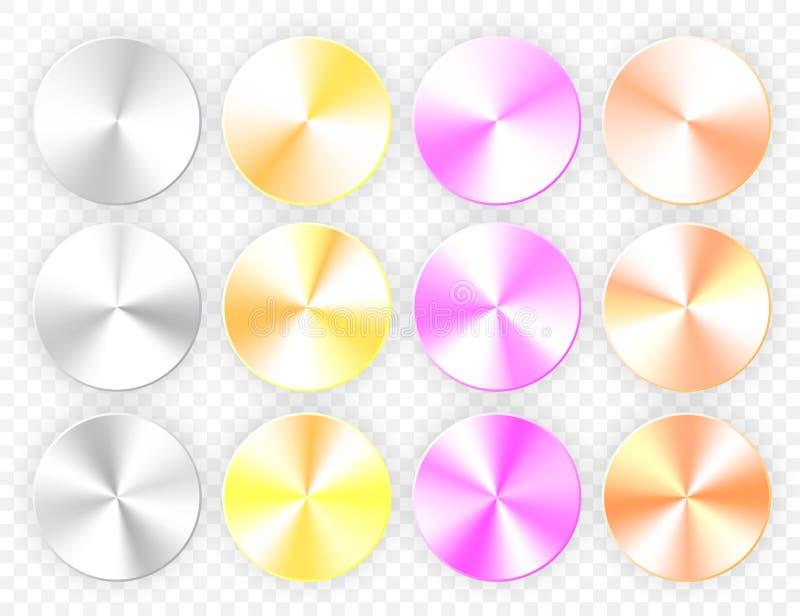 套在透明背景的圆锥形梯度 也corel凹道例证向量 皇族释放例证