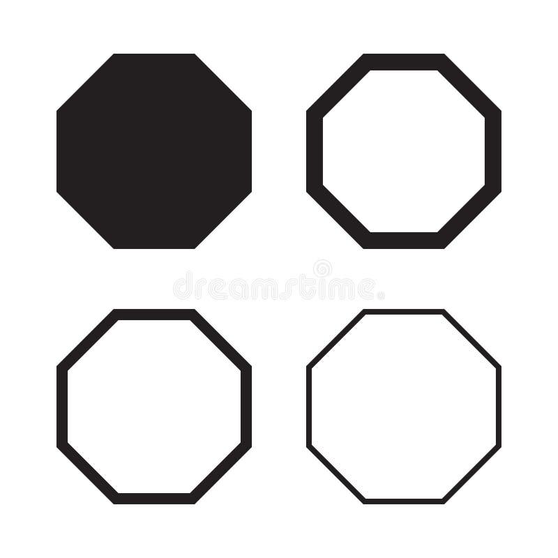 套在balck的八角形物您的设计的 也corel凹道例证向量 皇族释放例证