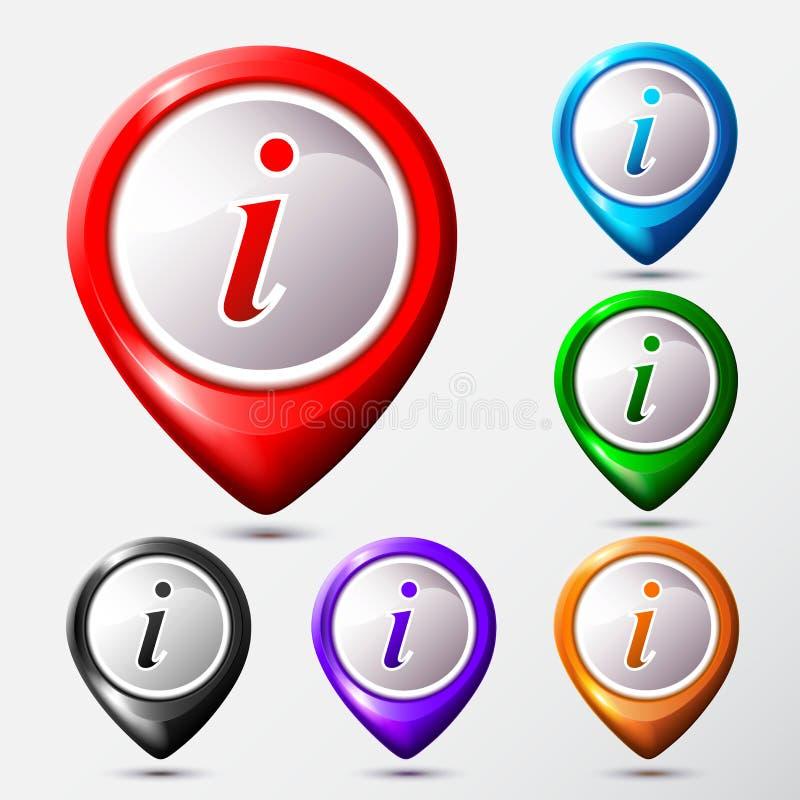 套地图存储单元信息标志 信息圆的标志 库存例证