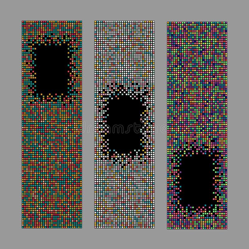 套垂直的映象点横幅 抽象系列 库存例证