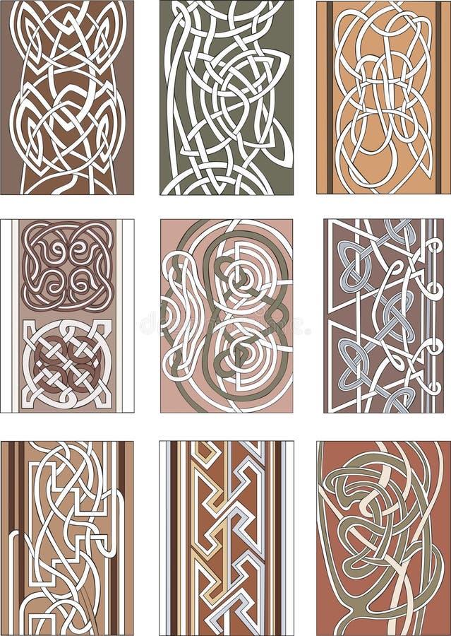 套垂直的结装饰样式 库存例证