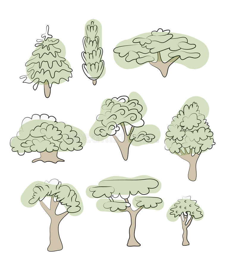 套多种结构树 向量例证,查出在白色 向量例证