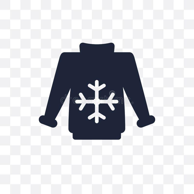 套头衫透明象 套头衫从衣裳c的标志设计 向量例证