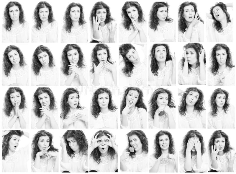 套妇女的情感照片 图库摄影