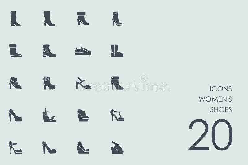 套妇女` s穿上鞋子象 皇族释放例证