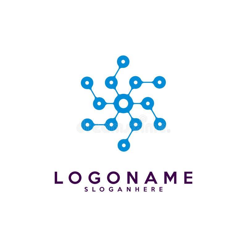 套字母S略写法,技术和数字式抽象小点连接导航商标 向量例证