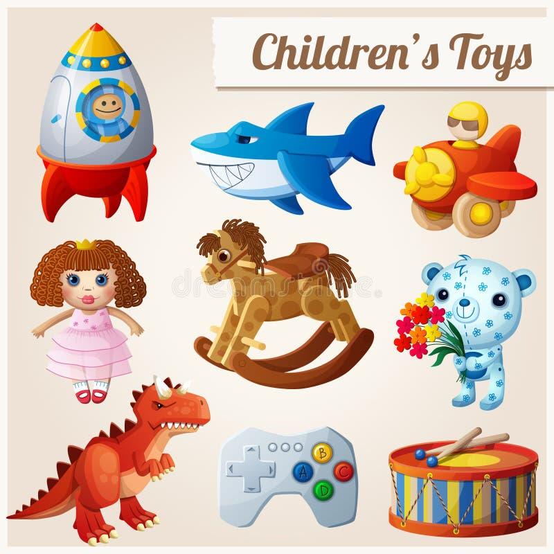 套孩子的玩具 第2.部分 向量例证