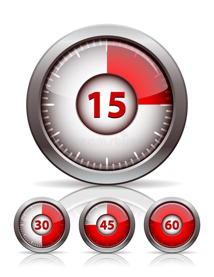 套定时器时钟 向量例证