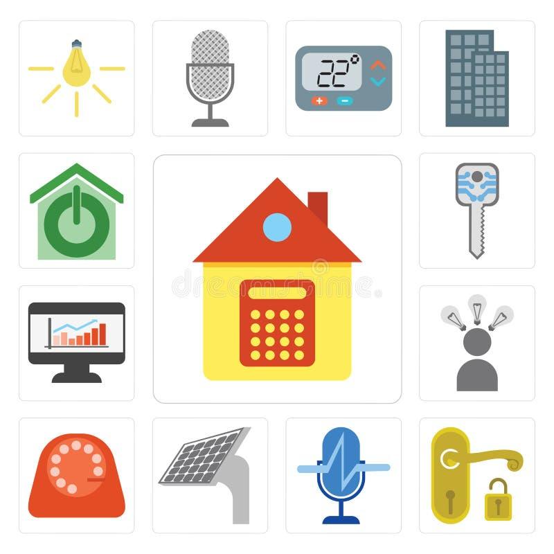 套家,把柄,声音控制,盘区,拨号盘,巧妙, Dashboar 向量例证
