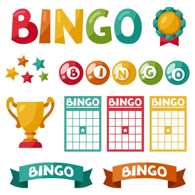 套宾果游戏或抽奖最后一球和卡片 皇族释放例证