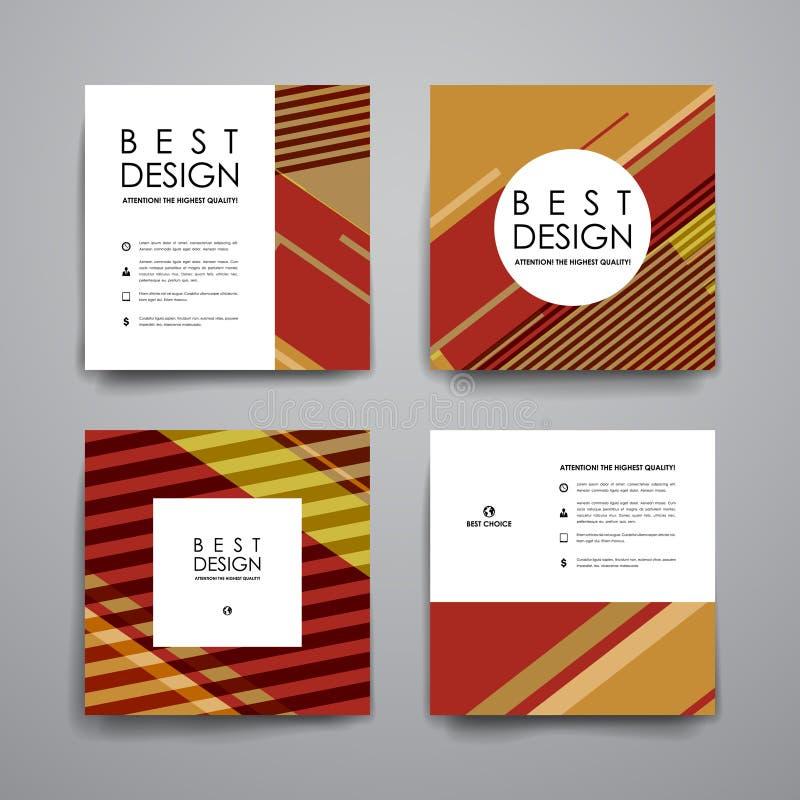 Download 套小册子,海报在抽象背景样式的设计模板 向量例证. 插画 包括有 模式, 图象, 几何, 小册子, 钉书匠 - 72350478