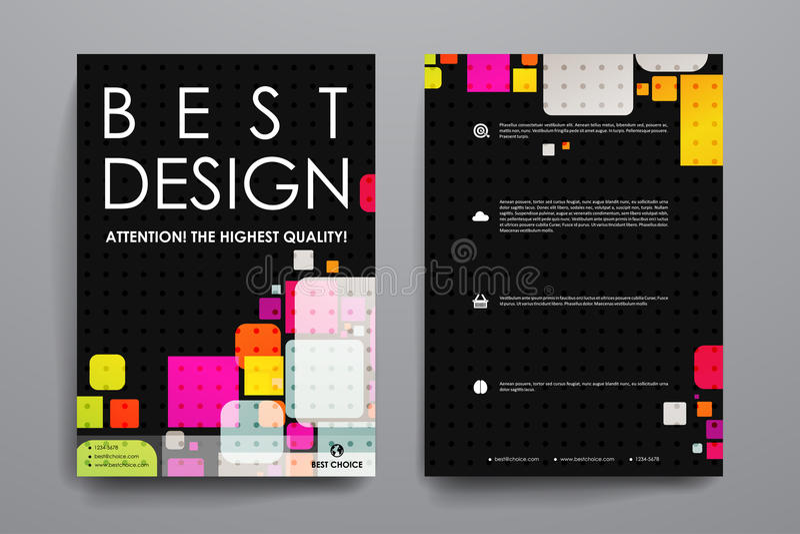 Download 套小册子,海报在抽象背景样式的设计模板 向量例证. 插画 包括有 空白的, 小叶, 现代, 背包, 看板卡 - 72350735