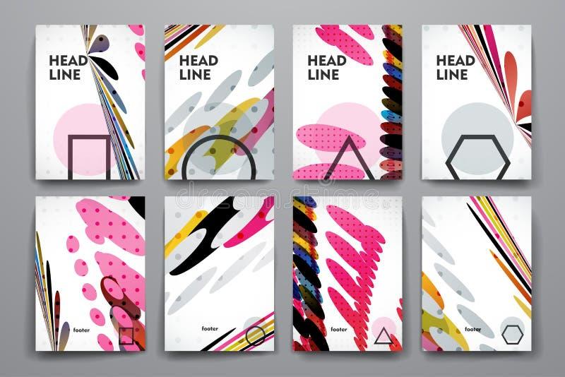 Download 套小册子,海报在抽象背景样式的设计模板 向量例证. 插画 包括有 创造性, 图象, 手册, 空白的, 例证 - 72350878