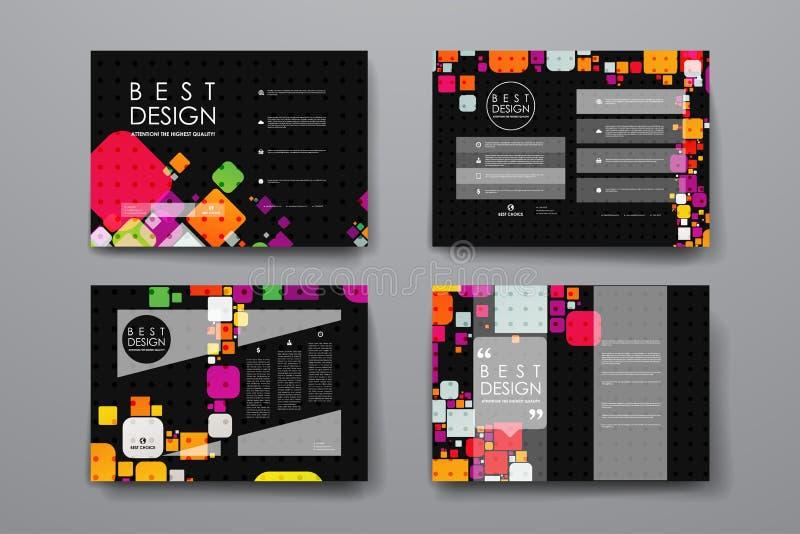 Download 套小册子,海报在抽象背景样式的设计模板 向量例证. 插画 包括有 抽象, 颜色, 小叶, 靠山, 空白的 - 72353158