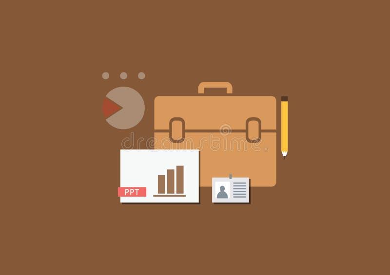 套平的例证设计企业介绍 库存例证