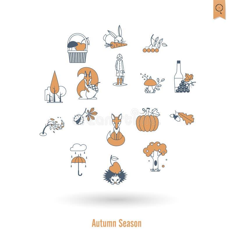 Download 套平的秋天象 向量例证. 插画 包括有 平面, brander, 堵塞, 万圣节, 自治权, 栗子, 本质 - 59107801