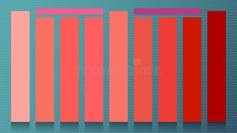 套年2019居住的珊瑚的主要颜色 时装业快乐的软和温暖的inspirat的样片镶边趋向颜色 皇族释放例证