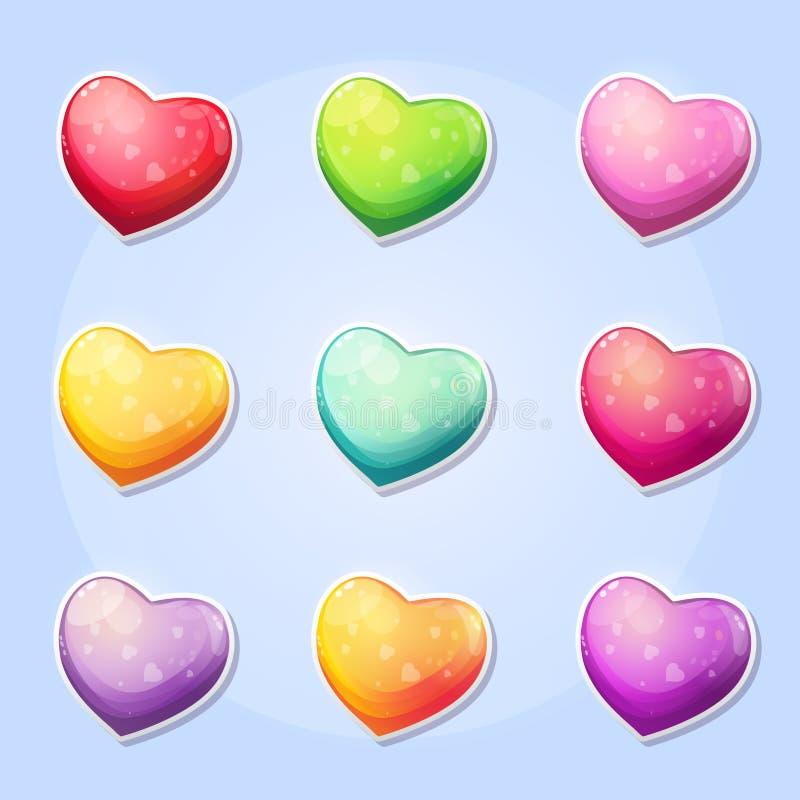 套心脏一个计算机游戏情人节 库存例证