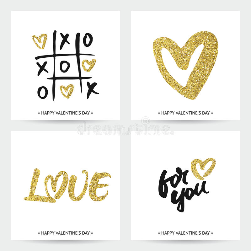 套情人节或婚礼的爱卡片 库存例证