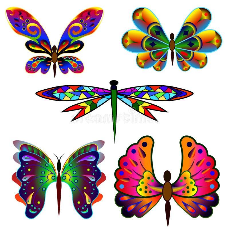 套意想不到的蝴蝶2 库存例证