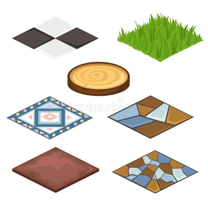 套房子和小农场的不同的涂层 库存例证