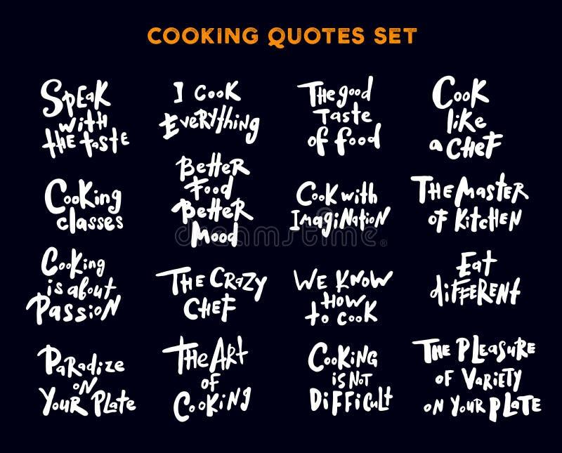 套手写的字法行情和词组关于烹调 Se 向量例证
