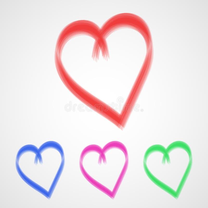 套手拉的心脏 也corel凹道例证向量 库存例证