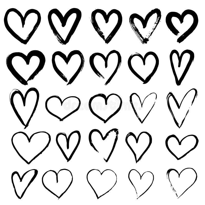 套手拉的心脏 向量例证