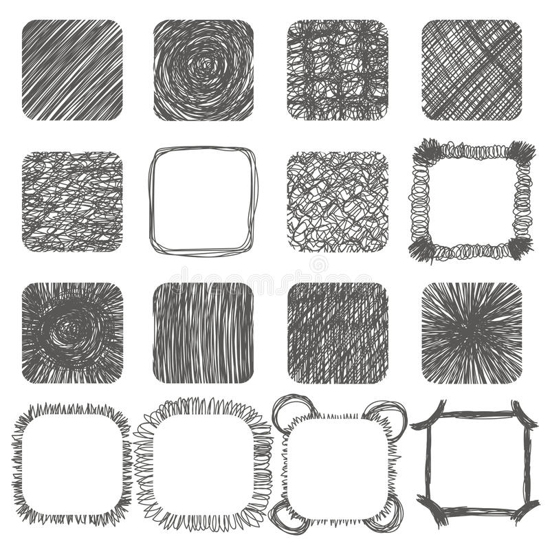 套手拉的杂文形状 容易的设计编辑要素导航 线路 向量例证