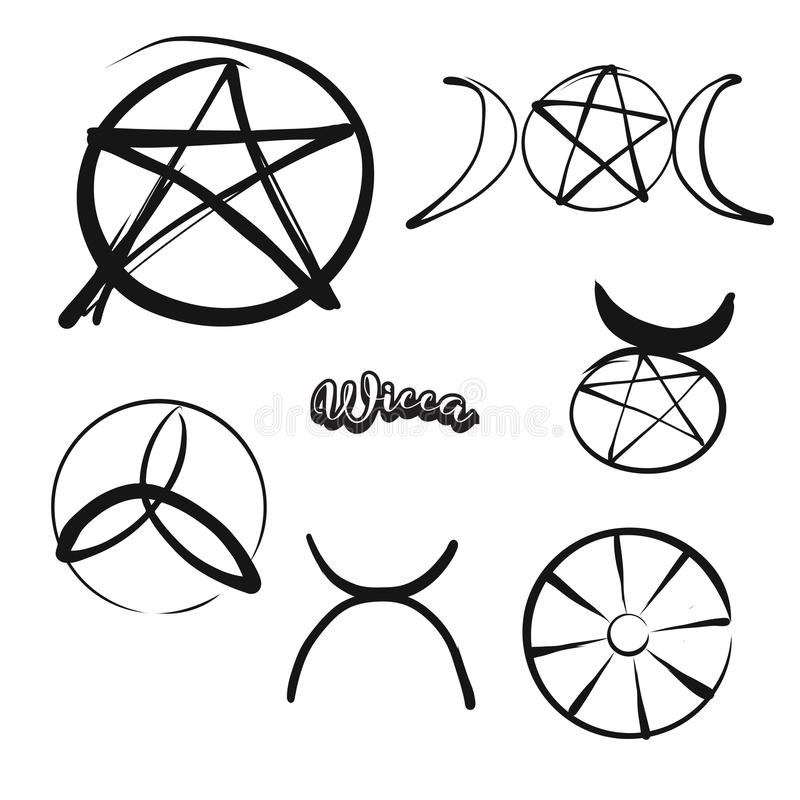 套手拉的Wicca标志 皇族释放例证